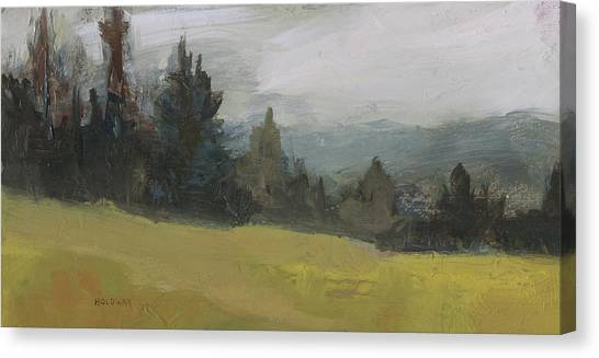Foggy Hill Canvas Print