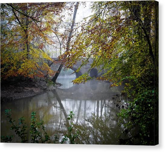 Foggy Jemison Park Canvas Print