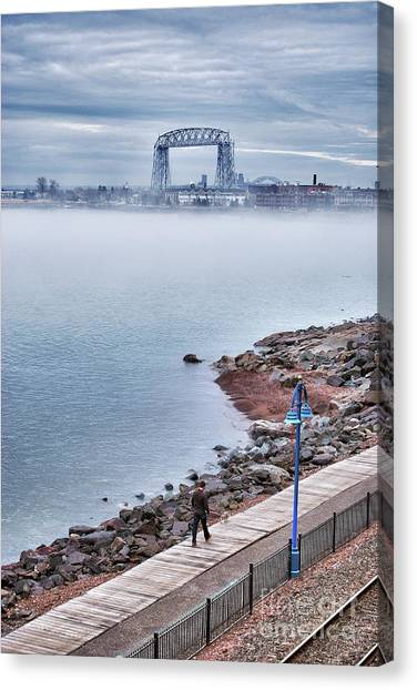 Foggy Lake Superior Afternoon Canvas Print