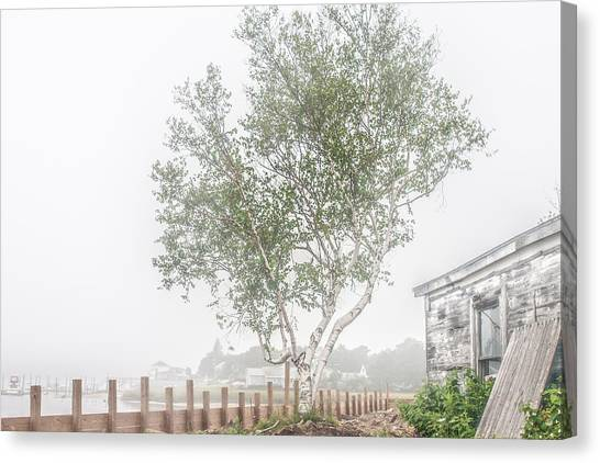 Foggy Morning At Camp Ellis Canvas Print