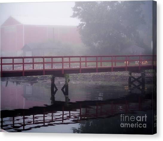 Foggy Morning At The Bridge Canvas Print
