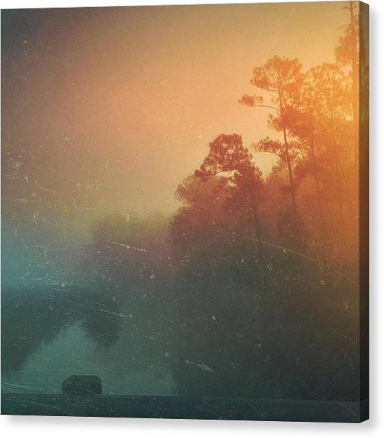 Bayous Canvas Print - Foggy Morning #fog #msgulfcoast by Joan McCool