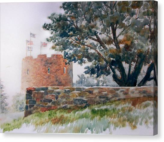 Foggy Morning In Maine Canvas Print by Don Getz