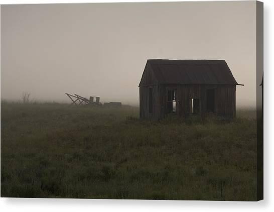 Foggy Morning  Canvas Print by John Higby