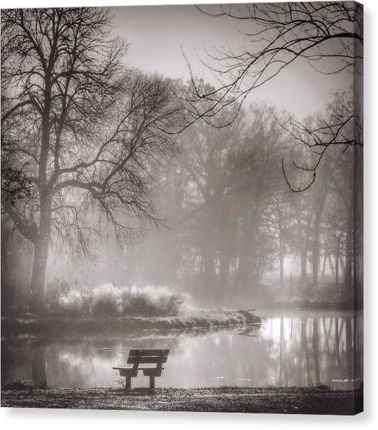 Ponds Canvas Print - Foggy Morning Reflection by Aran Ackley
