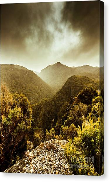 Mountain Ranges Canvas Print - Foggy Mountainous Forest by Jorgo Photography - Wall Art Gallery