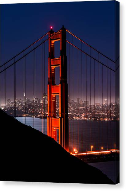 Foggy San Fransisco Canvas Print