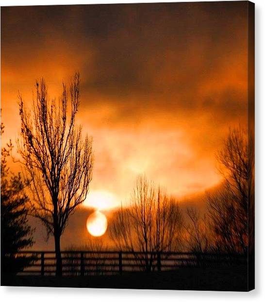 Foggy Sunrise Canvas Print