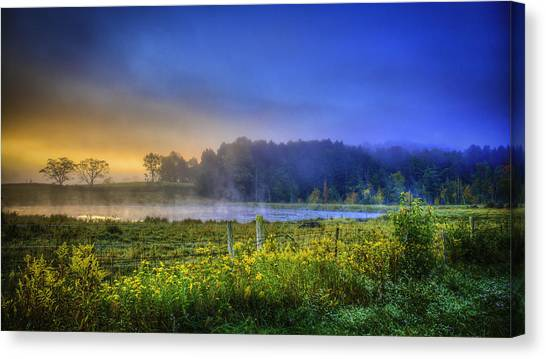 Fogy Sunrise  Canvas Print