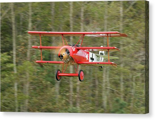 Fokker Dr.i Flyby Canvas Print by Liza Eckardt