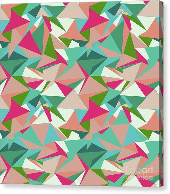 Repeat Canvas Print - Folded Geometric by Marni Stuart
