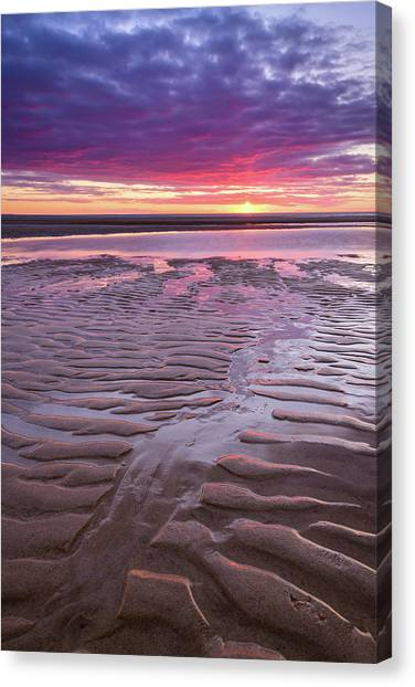 Folds In The Sand - Vertical Canvas Print