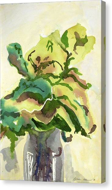 Foliage In Vase Canvas Print
