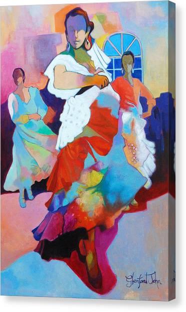 Folk Dancers Canvas Print