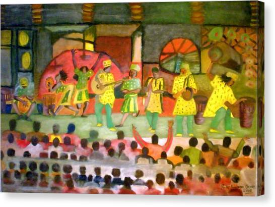 Folk Play Canvas Print by Philip Okoro