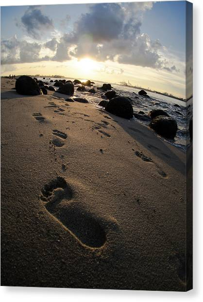 Follow In His Steps Canvas Print