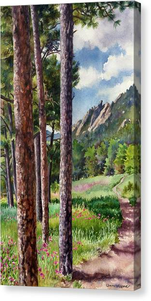 Pine Trees Canvas Print - Follow Me by Anne Gifford