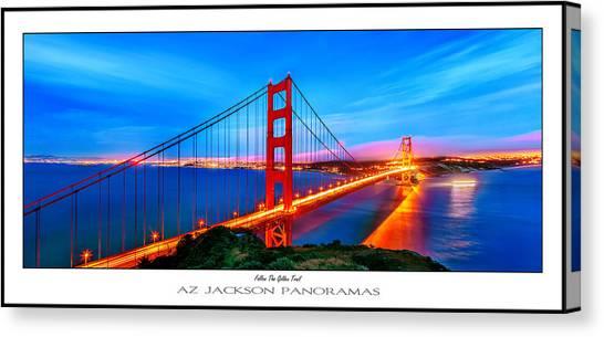 Gate Canvas Print - Follow The Golden Trail Poster Print by Az Jackson
