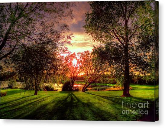 Follow The Light Canvas Print by Kim Shatwell-Irishphotographer