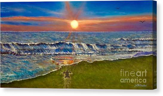 Follow The One True Light Canvas Print