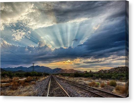 Follow The Rays Canvas Print