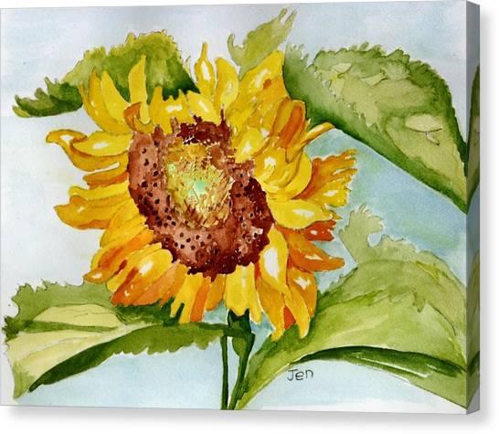 Following The Sun Canvas Print by Ann Gordon