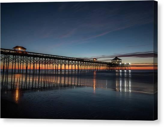 Folly Beach Pier Before Sunrise Canvas Print