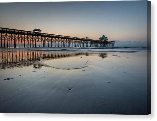 Folly Beach South Carolina Pier Canvas Print