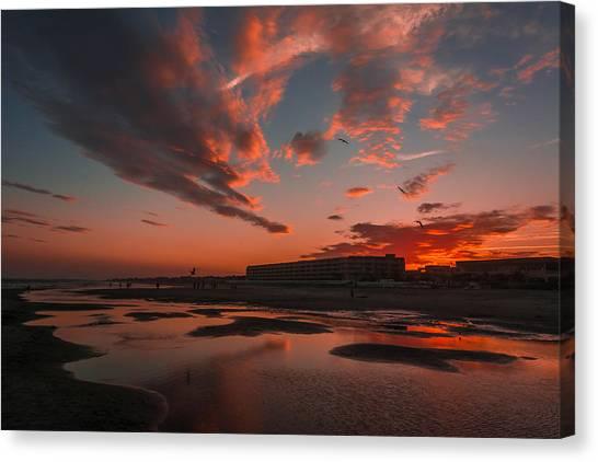 Folly Beach Sunset Canvas Print
