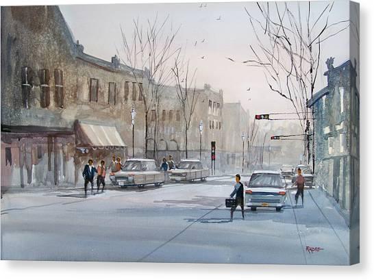 Fond Du Lac - Downtown Canvas Print