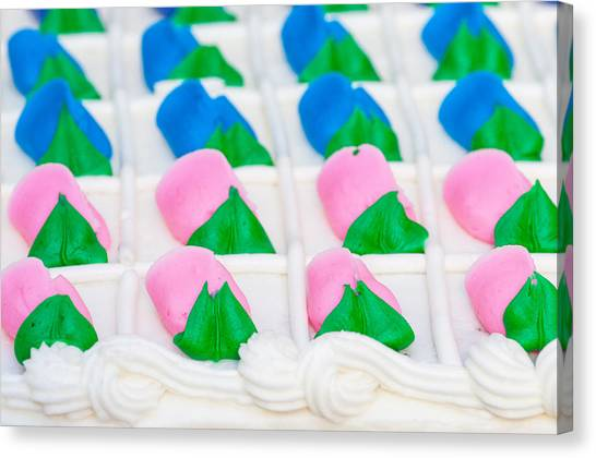 Fondant Close-up Canvas Print