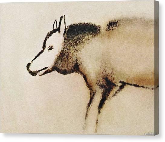 Font De Gaume Wolf Canvas Print