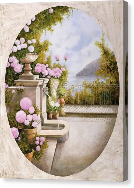 Fountain Canvas Print - Fontana Sul Terrazzo by Guido Borelli