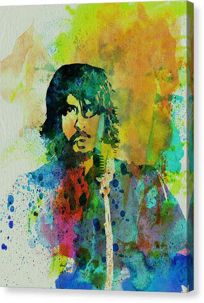 Bands Canvas Print - Foo Fighters by Naxart Studio