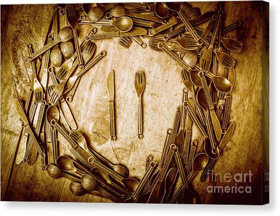Dinner Table Canvas Print - Foodies Circle by Jorgo Photography - Wall Art Gallery