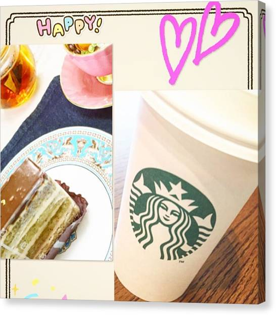 Sweet Tea Canvas Print - #foodpictures  #yum #green #yummy by Kaori Kurihara