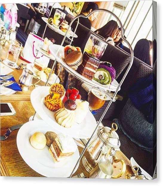 Sweet Tea Canvas Print - #foodpictures #afternoontea #tea by Kaori Kurihara