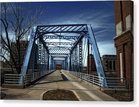 Foot Bridge Over The Grand River Canvas Print