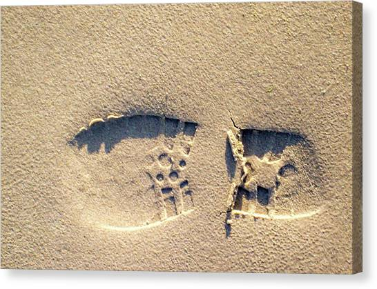 Foot Print Canvas Print
