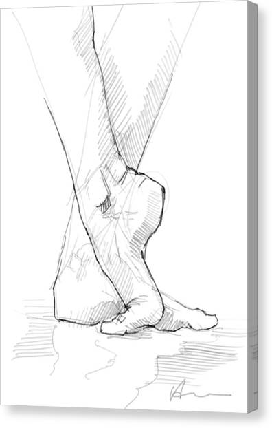 Ballet Canvas Print - Foot Study by H James Hoff
