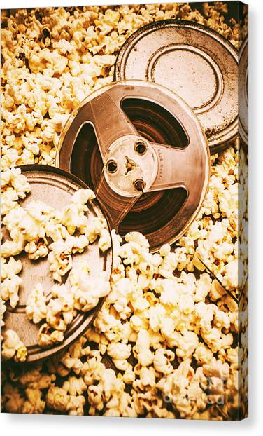 Popcorn Canvas Print - Footage From An Antique Motion Picture by Jorgo Photography - Wall Art Gallery