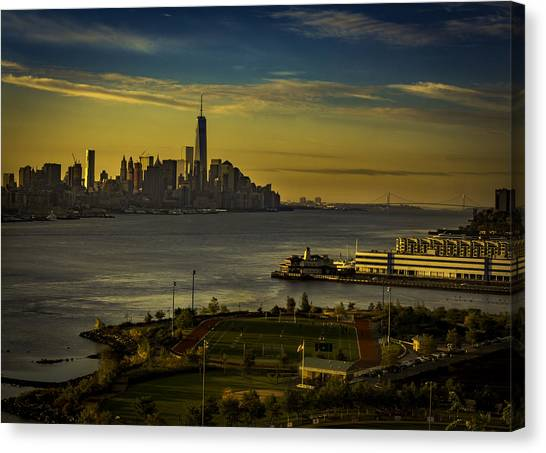 Football Field With A View Canvas Print