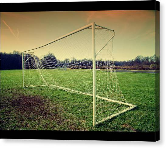 Soccer Canvas Print - Football Goal by Federico Scotto