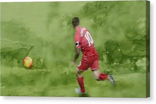 British Premier League Canvas Print - Football by Jani Heinonen