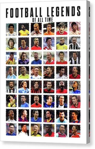 Zlatan Ibrahimovic Canvas Print - Football Legends by Semih Yurdabak