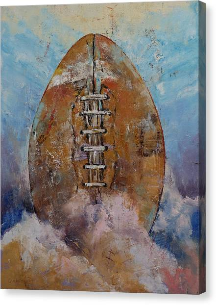 Football Canvas Print - Football by Michael Creese