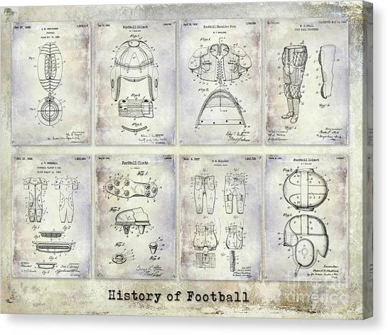 Houston Texans Canvas Print - Football Patent History by Jon Neidert