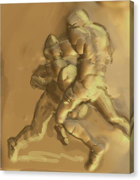 Football Players Canvas Print