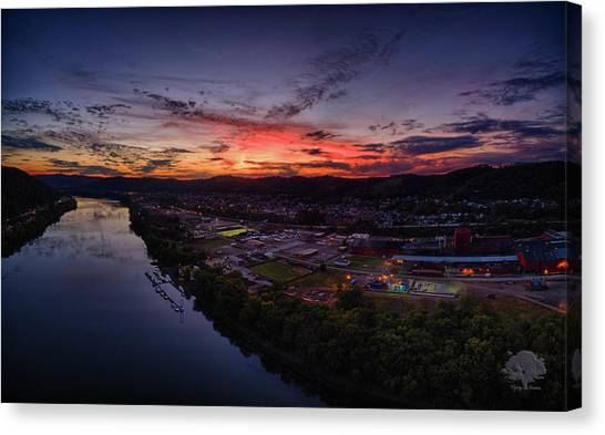 Ohio Valley Canvas Print - Twilight Football by Flying Dreams