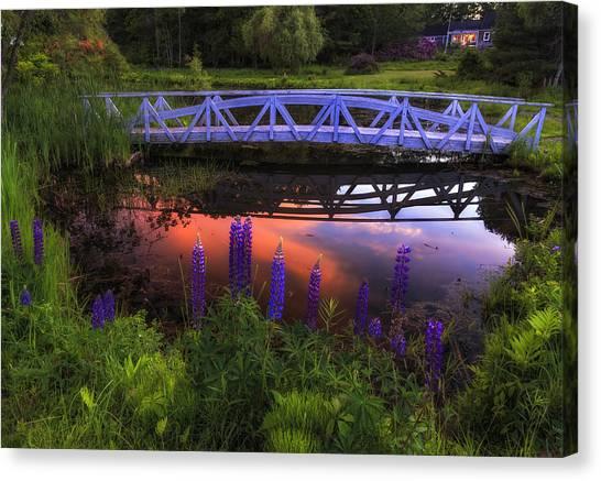 Footbridge Sunset Canvas Print